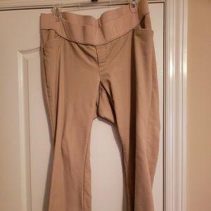 Old navy khaki maternity pants